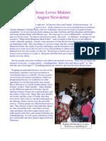 2012 Jesus Loves Malawi August Newsletter
