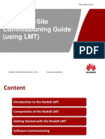 Nodeb on-site Commissioning Guide (Using Lmt)