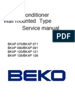 Manual Serviço Beko