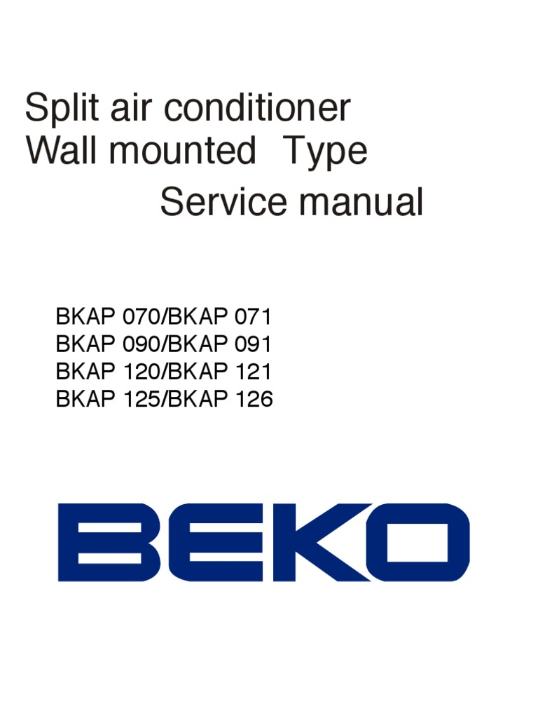 Manual Servio Beko Air Conditioning Hvac