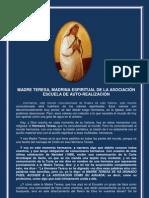 P. Dávila (Madre Teresa, Madrina Espiritual de la Asociación Escuela de Auto-Realización)