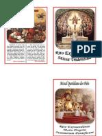 Rito Extraordinário - Missa Tridentina - Livreto-Missal