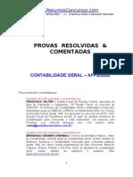 AFP07 Prova Contabilidade INSS 2002