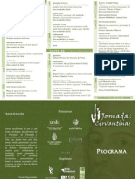Programa VI Jornadas Cervantinas