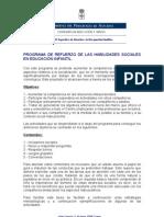 PROGRAMA DE REFUERZO DE LAS HABILIDADES SOCIALES EN EDUCACIÓ