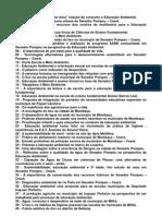 Lista com os títulos das Monografias produzidas pelo Curso