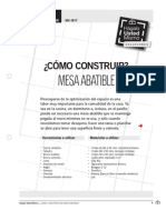 Como Construir Mesa Abatible
