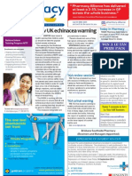 Pharmacy Daily for Tue 21 Aug 2012 - Echinacea warning, AHPRA agreement, Pharmacist figures and much more...