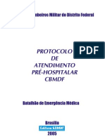 PROTOCOLO DE ATENDIMENTO PRÉ-HOSPITALAR CBMDF