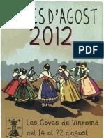 Programa Festes d'Agost 2012 a les Coves de Vinromà