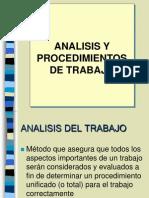 Analisis y Procedimientos de Trabajo