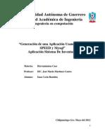 Aplicacion Con Iron Speed y Mysql (Herramienta Case)