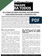 Panfleto oposição SPT - GREVE - 22 agosto 2012