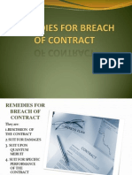 Remedies for Breach of Contract