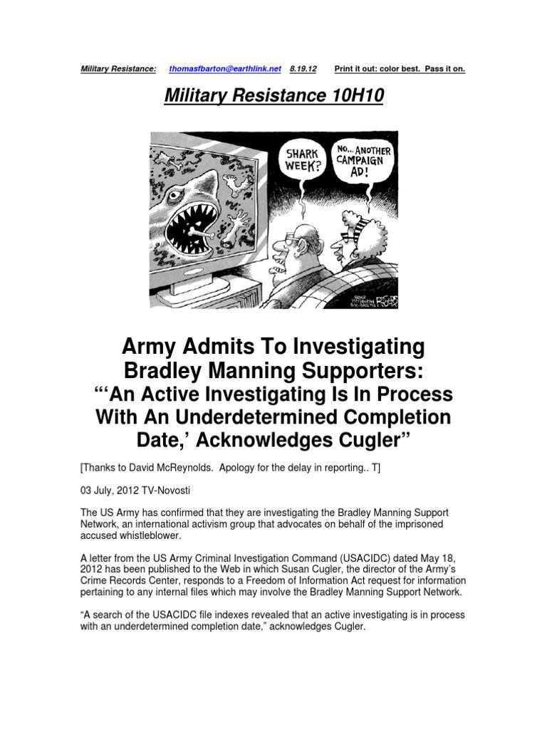 Military Resistance 10H10 Army CIDC Targets Civilians
