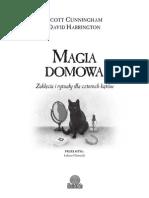 """""""Magia domowa. Zaklęcia i rytuały dla czterech kątów"""" Scott Cunningham, David Harrington - fragment"""