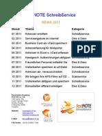 2011 NEWS fastNOTE SchreibService