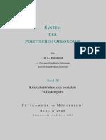 Ruhland, Gustav - System Der Politischen Oekonomie - Band 3 (1908, 286 S., Text)
