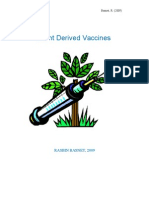 Plant Derived Vaccines