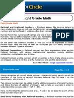 Eight Grade Math