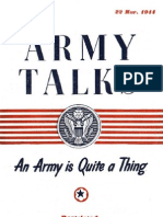 Army Talks ~ 03/22/44