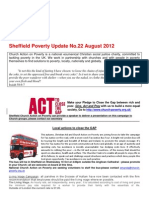 Sheffield Poverty Update No 22 August 2012