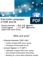 East Asian Languages in KDE and Qt