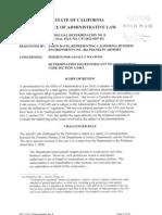 Cal-FFL 2012 OAL Determination re DOJ Corporation AW Permits