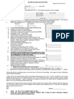 Income Tax Declaration Form