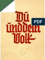 Schrey, Kurt - Du Und Dein Volk (Um 1938, 51 S., Scan, Fraktur)