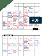 Calendar Agenda - Spring 2007 AB
