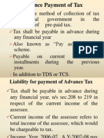 Advance Payment of Tax