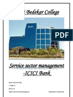 Service Sector Management ICICI Bank