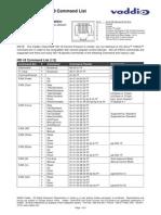 HD-18 Command List 9-10-09