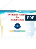 Production Function on Parle Co