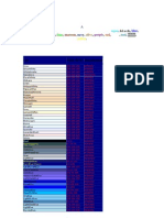 Tabela de Cores - Browser Rgb- Hex
