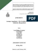 2012 05 30 Supreme Court UK - Assange