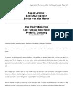 The Innovation Hub (Bertus v d  Merwe) (Text) 031010