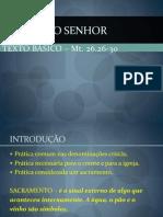 Eclesiologia - Ceia do Senhor.ppt