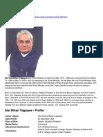 Export-Atal Bihari Bajpayee
