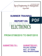 Electronic Assignment