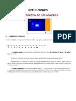 1.- Clasificacion de Los Numeros