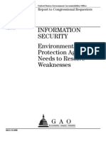 INFORMATION SECURITY Environmental Protection Agency Needs to Resolve Weaknesses