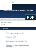 Recent Advances in the Reliability of OTFTs