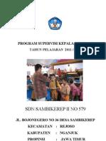 Program Supervisi Kepala Sekolah