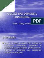 Introdução - Analise das demonstrações financeiras