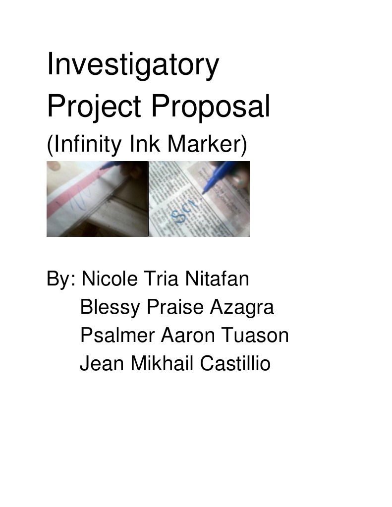 ink investigatory project