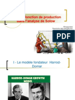 TD 2 La Fonction de Production dans l'analyse de Solow