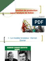 TD 2 La Fonction de Production dans l'analyse de Solow