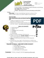 Classroom Policy Lake 12 13